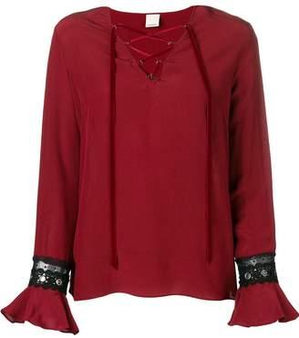 Pinko plait fastened blouse