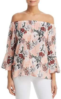 Tolani Floral-Print Off-the-Shoulder Top