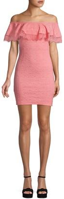 BCBGeneration Off-The-Shoulder Sheath Dress