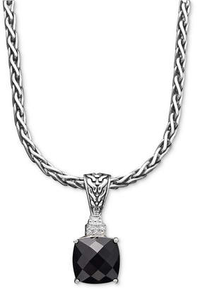 Effy Balissima by Onyx (5-1/5 ct. t.w.) and Diamond Accent Pendant in Sterling Silver