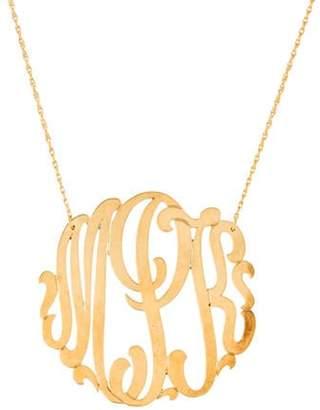Jennifer Zeuner Jewelry Blake Swirly Initial 'mpk' Monogram Necklace silver Blake Swirly Initial 'mpk' Monogram Necklace