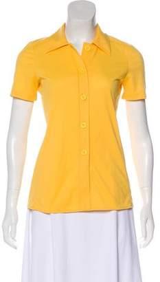 Paul & Joe Short Sleeve Button-Up Blouse