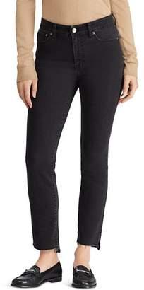 Ralph Lauren Regal Straight Step-Hem Jeans in Charcoal