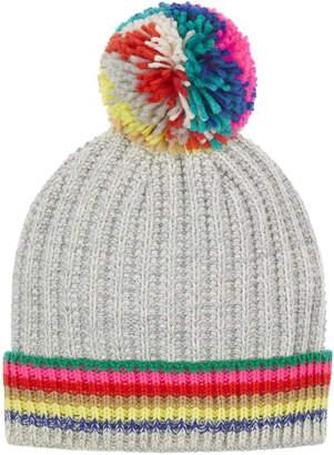 Accessorize Rainbow Stripe Pom Beanie Hat 0aa8b10802fa