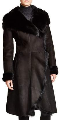 Maximilian Furs Maximilian Hooded Shearling Coat with Toscana Collar - 100% Exclusive