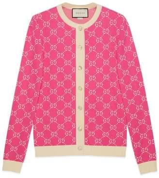Gucci GG jacquard cotton cardigan
