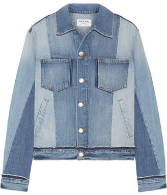 Frame Patchwork Denim Jacket - Light denim