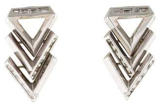 Eddie Borgo Twill Chevron Earrings