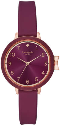 Kate Spade Women Park Row Purple Silicone Strap 34mm