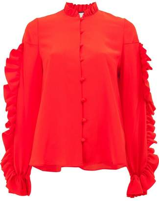 Alexis long sleeved ruffle blouse