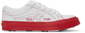 Converse White and Red Golf le Fleur* One Star OX Sneakers