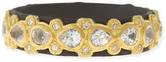 Armenta Pear Sapphire & Diamond Band Ring