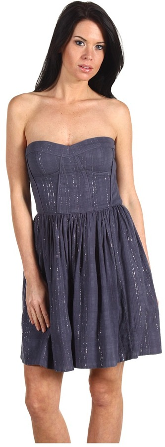 Rebecca Taylor Charlie Dress (Steel Grey) - Apparel