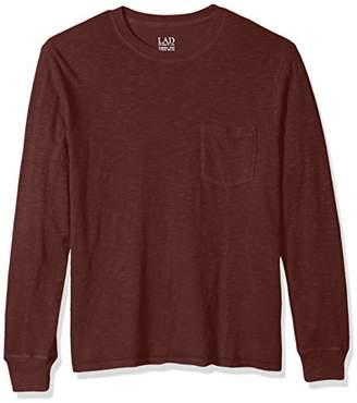 Life After Denim Men's Long Sleeve Slim Fit Cotton Slub Club Crew Neck T-Shirt