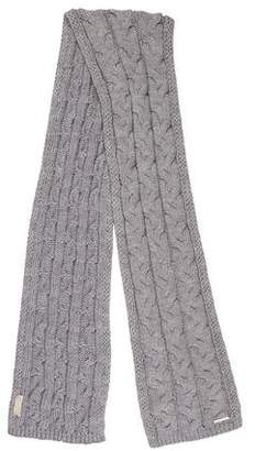 51a329238 Grey Cable Knit Scarf - ShopStyle