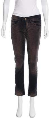 Roseanna Distressed Mid-Rise Pants