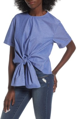 Women's Bp. Tie Front Blouse $49 thestylecure.com