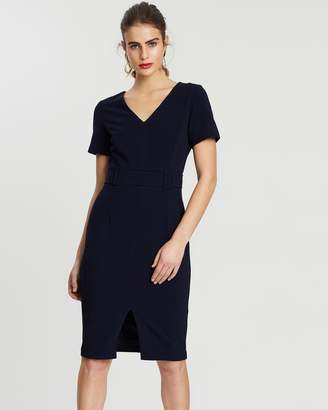 Forcast Olivia Buckle Waist Dress