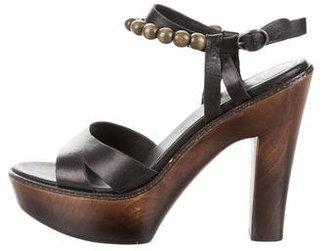 UGG Australia Leather Platform Sandals $95 thestylecure.com