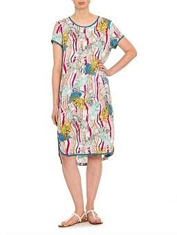 Marc O'Polo Marco Polo Short Sleeve Tropics Dress