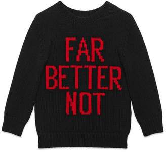 Gucci Children's Far Better Not wool sweater