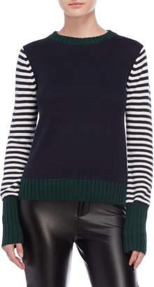 ENGLISH FACTORY Stripe Long Sleeve Sweater
