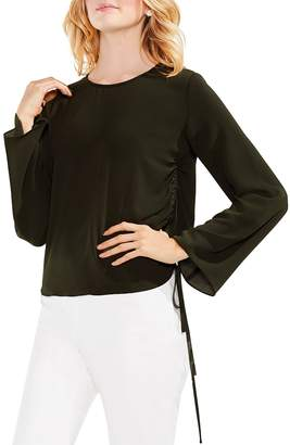 Vince Camuto Bell Sleeve Side Drawstring Top