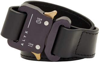 1017 Alyx 9SM Black Leather Mini Buckle Cuff