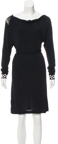 Emilio PucciEmilio Pucci Embellished Belted Dress
