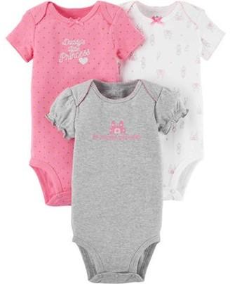 Carter's Child of Mine by Newborn Baby Girl 3 Pack Bodysuit