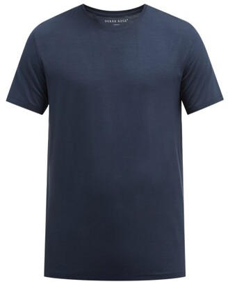 Derek Rose Basel Jersey T Shirt - Mens - Denim