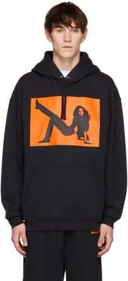 Calvin Klein Jeans Est. 1978 Black and Orange Icon Printed Hoodie