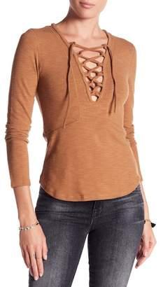 Anama Lace-Up Knit Blouse