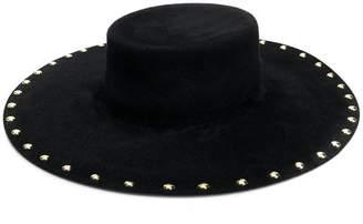 Alberta Ferretti studded wide-brim hat