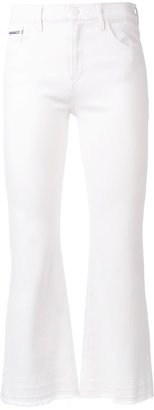 Calvin Klein Jeans flared cropped jeans $123.02 thestylecure.com