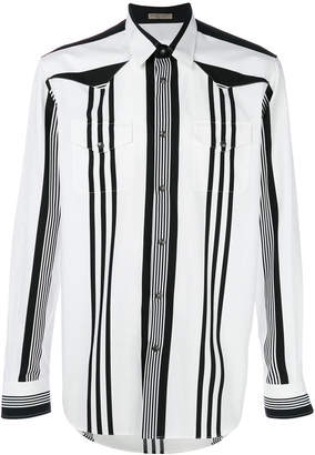 Bottega Veneta bianco nero cotton shirt
