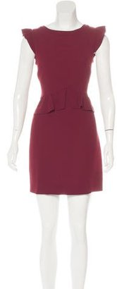 Sandro Ruffle-Trimmed Sheath Dress $95 thestylecure.com
