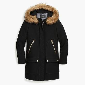 J.Crew Petite chateau parka in Italian stadium-cloth wool