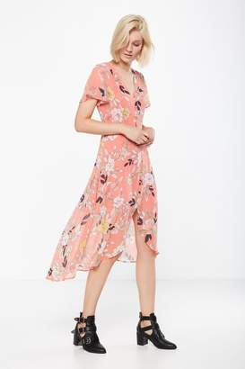 Cotton On Woven Georgia Short Sleeve Maxi Dress
