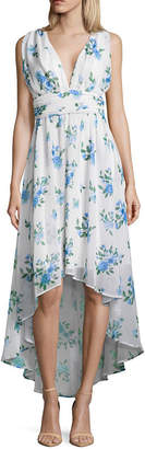 DISNEY PRINCESS Disney Princess Easter Sleeveless Floral Wrap Dress-Juniors