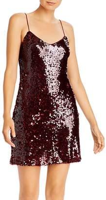 WAYF Julian Sequined Slip Dress