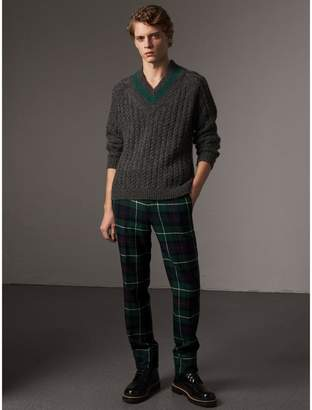 Burberry Cashmere Blend Cricket Sweater