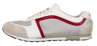 Prada Sport Metallic Low-Top Sneakers
