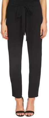 CeCe Tie Front Crepe Ankle Pants