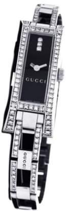 Gucci 110 Series Stainless Steel Custom 1.00 Ct Diamond 36mm x 14mm Watch