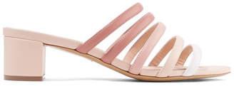 Mansur Gavriel Color-block Leather Sandals - Blush
