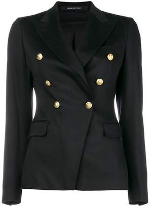 Tagliatore fitted waist tailored jacket