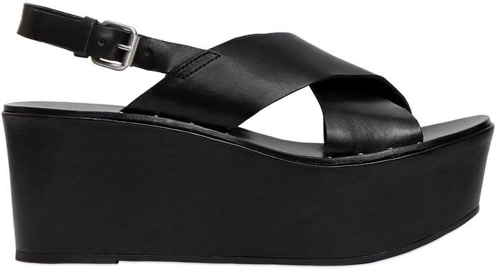 Janet & Janet Janet&janet 60mm Leather Wedges