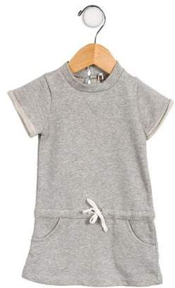 Emile et Ida Girls' Keyhole-Accented Sweatshirt Dress w/ Tags