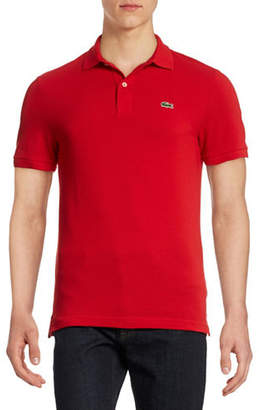 Lacoste Slim Fit Solid Cotton Polo